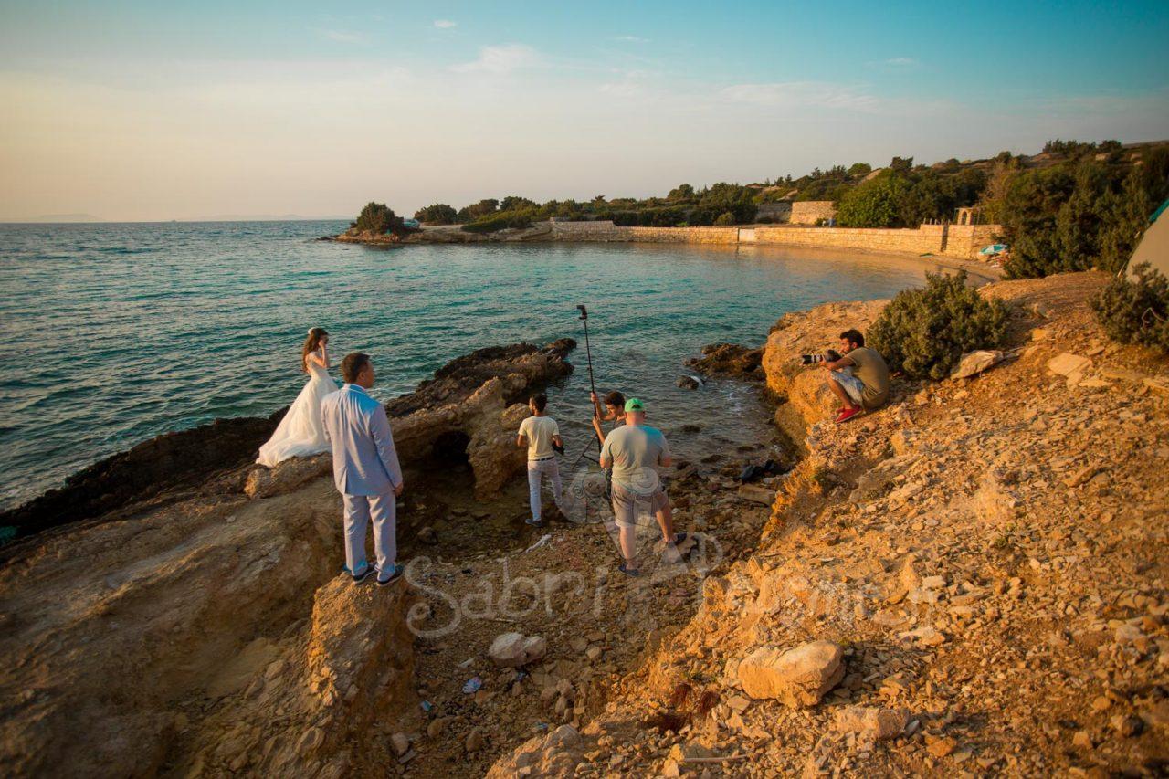 İzmir-Alaçatı-Gün-batımı-Düğün-Fotoğrafları