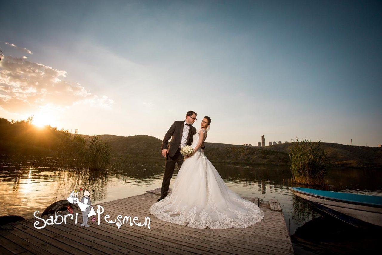 Ankara-Eymir-Gölünde-Çekilmiş-En-Güzel-Dış-Çekim-Düğün-Fotoğrafları-2017-Sabri-Peşmen