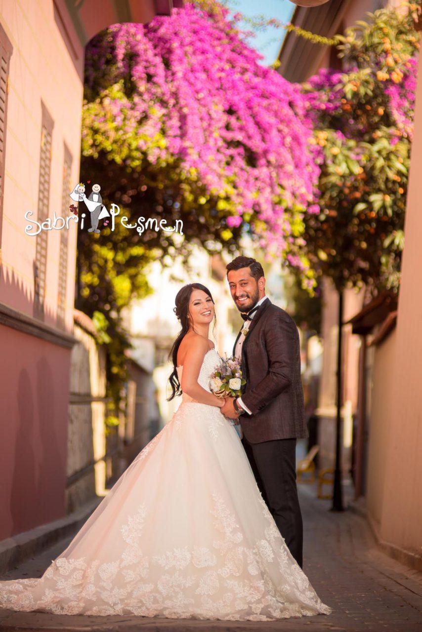 Antalya-Alanya-Manavgat-Side-Kaş-Kaleiçi-Begonvil-Çiçekleriyle-Düğün-Fotoğrafları-2017-Sabri-Peşmen