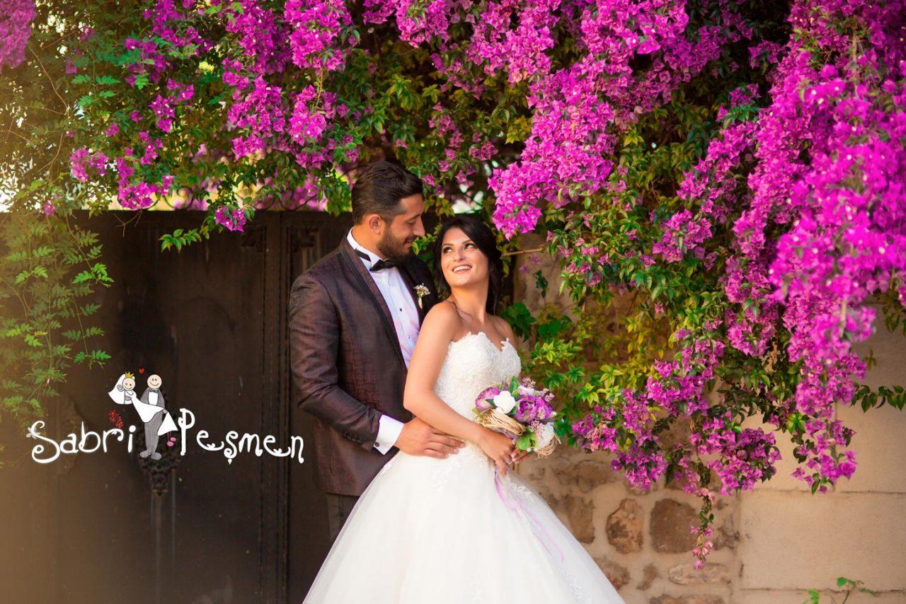 Antalya-Begonvil-çiçekleri-Dış-Çekim-Düğün-Fotoğrafları