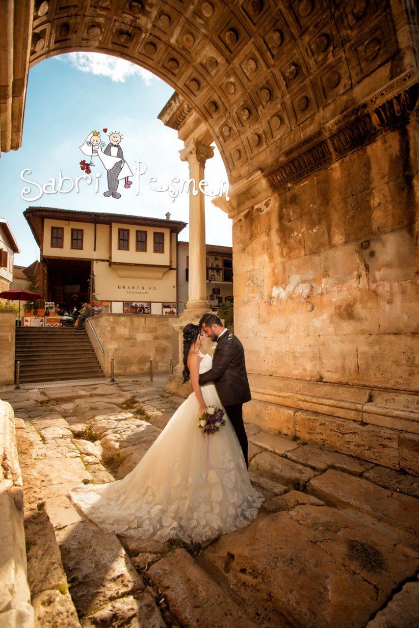 Antalya-kaleiçi-üç-kapı-Dış-Çekim-Düğün-Fotoğrafları-2017