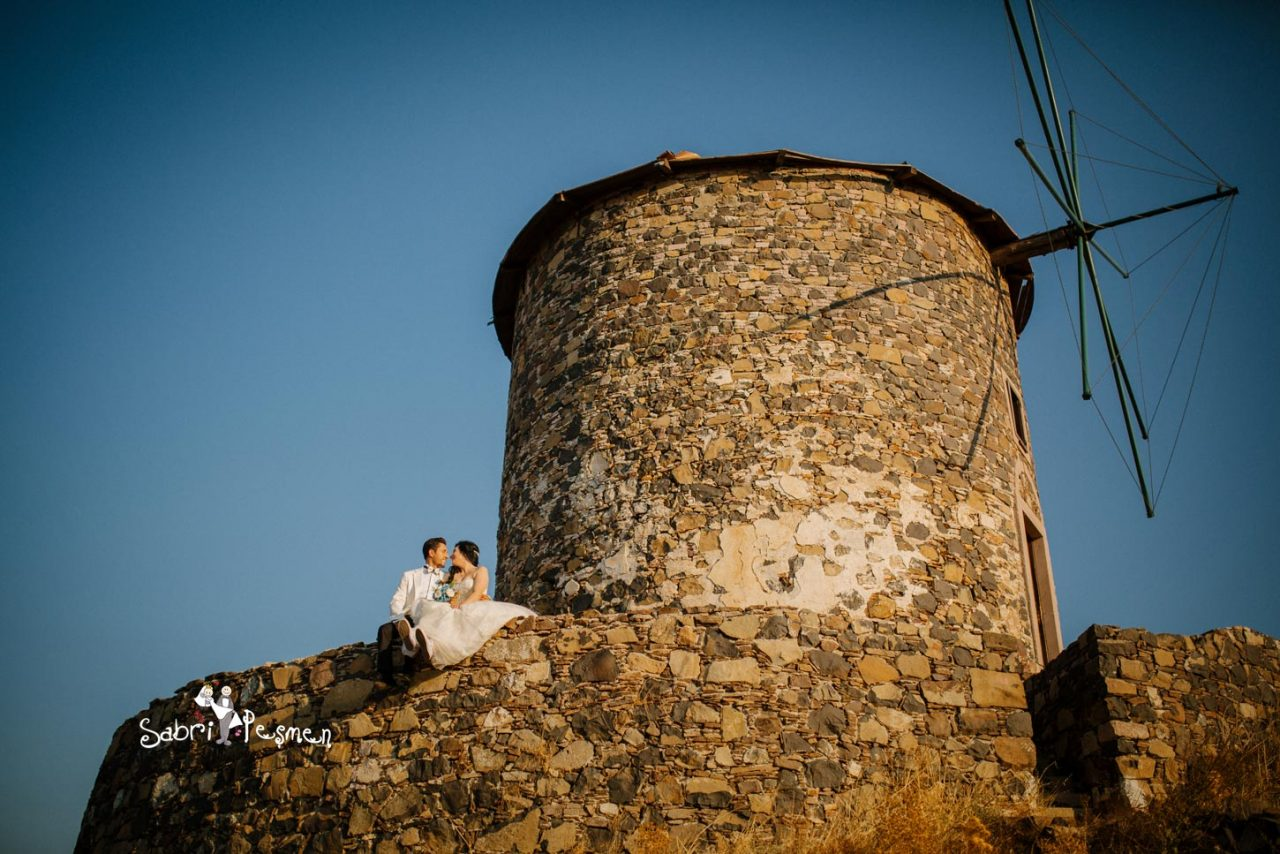 Balıkesir-Edremit-Cunda-Adası-Akçay-Altınoluk-Dış-Çekim-Değirmen-Düğün-Fotoğrafları