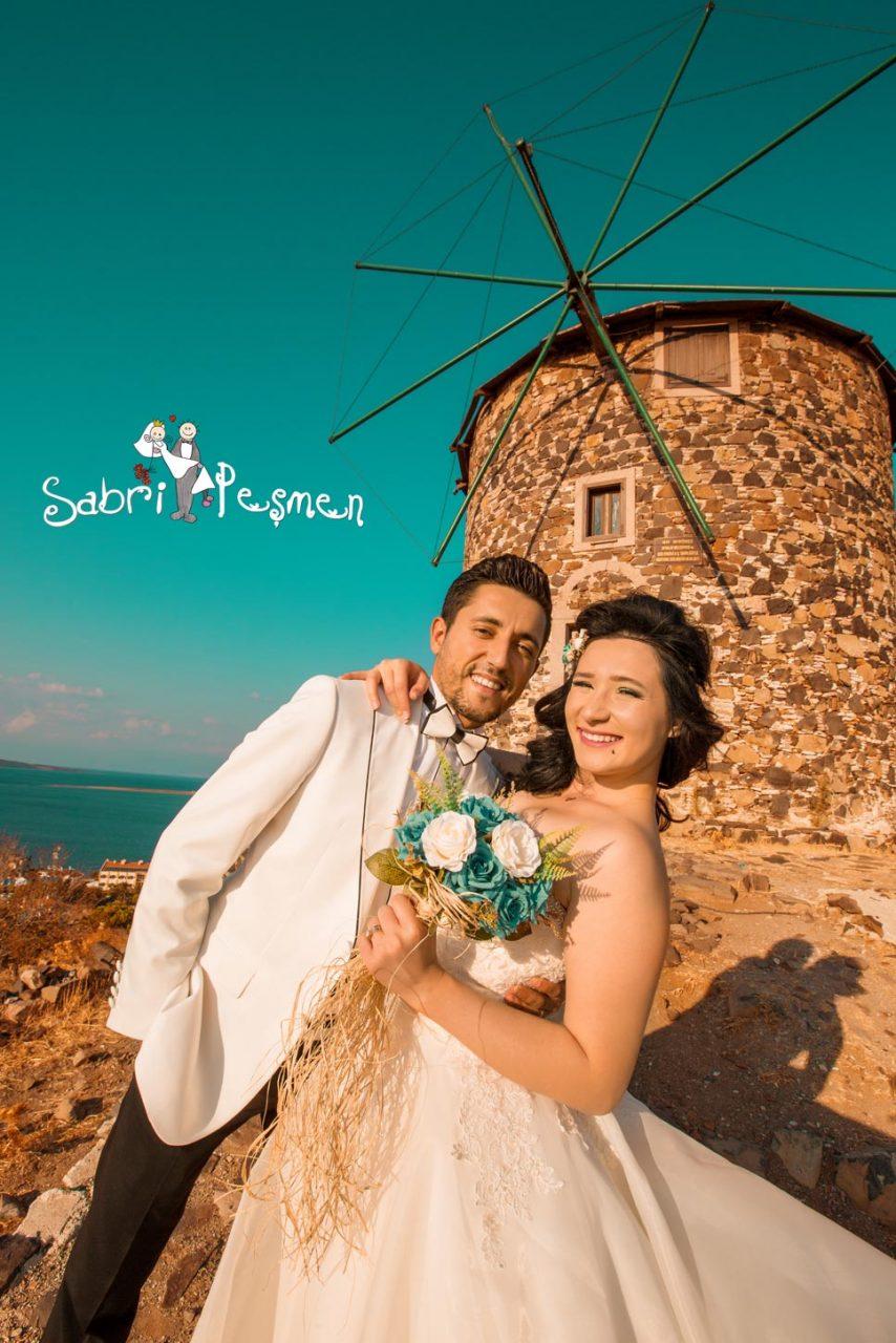 Balıkesir-Edremit-Cunda-Adası-Değirmende-Çekilmiş-En-İyi-Düğün-Fotoğrafları