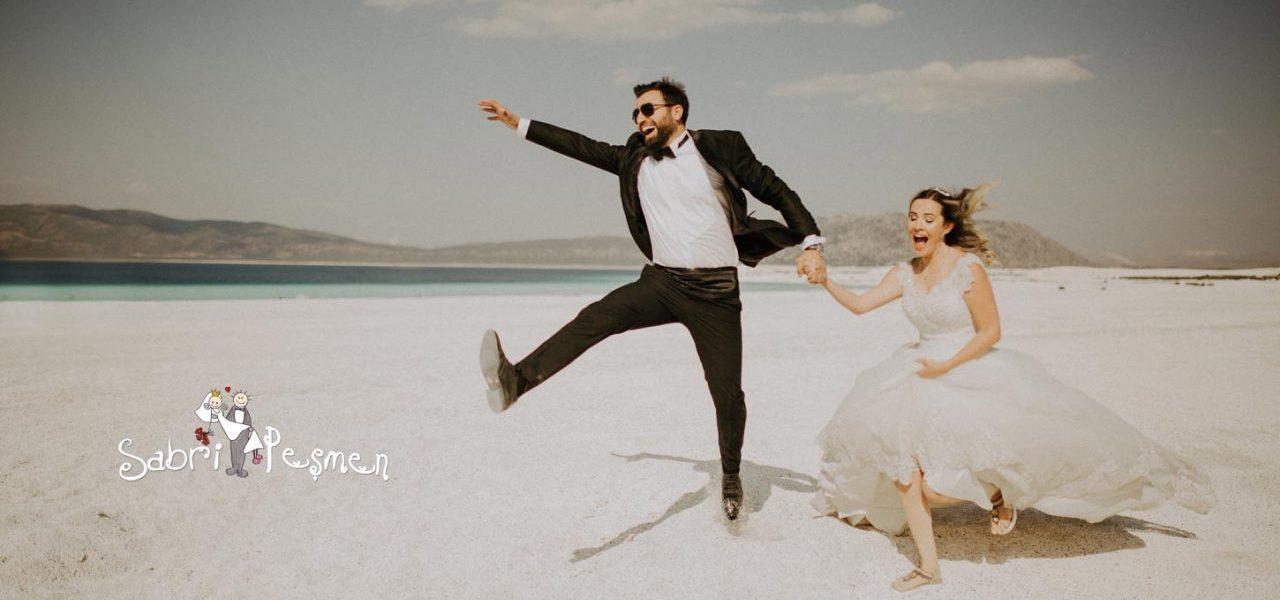 Salda Gölü ve Lavanta Kokulu Köy de Çekilmiş En iyi Düğün Fotoğrafları